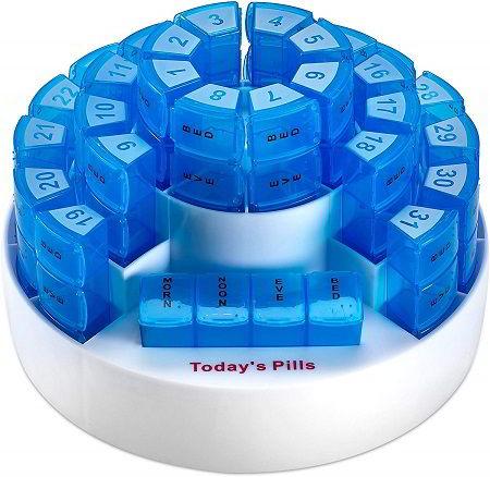 azul transl/úcido Pastillero diario