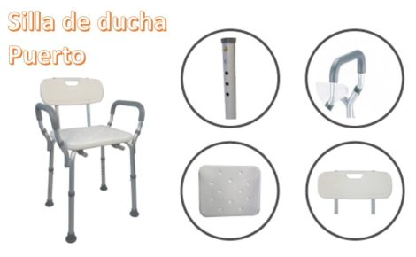 Silla de Altura regulable para Ducha