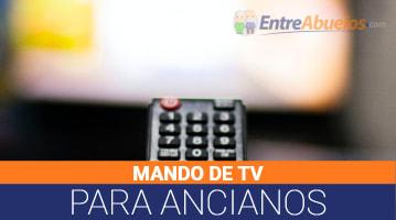 Mando de TV para Ancianos